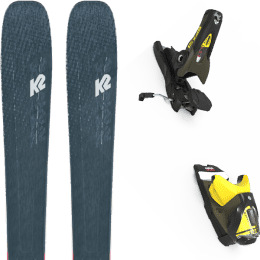 Boutique K2 K2 MINDBENDER 98 TI ALLIANCE 20 + LOOK SPX 12 GW B100 KAKI/YELLOW 20 - Ekosport