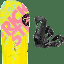 Pack snowboard ROSSIGNOL ROSSIGNOL TRICKSTICK AF (ASYM FRAME) WIDE 19 + SALOMON HOLOGRAM BLACK 20 - Ekosport