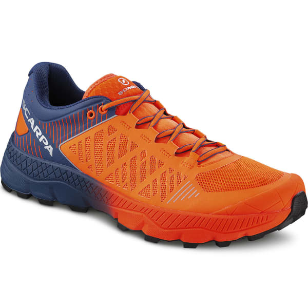 SCARPA Chaussure trail Spin Ultra Orange Fluo- Galaxy Blue Homme Orange/Bleu taille 40.5