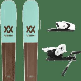 Pack ski alpin VOLKL VOLKL SECRET 102 20 + SALOMON Z12 B90 WHITE/BLACK 21 - Ekosport