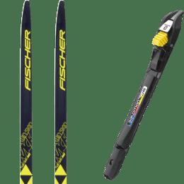 Ski de fond FISCHER FISCHER TWIN SKIN RACE JR IFP 19 + SALOMON SNS ACCESS JUNIOR 22 + SALOMON IFP ADAPTOR PLATE 21 - Ekosport