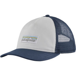 PATAGONIA W'S PASTEL P-6 LABEL LAYBACK TRUCKER HAT WHITE STONE BLUE 21