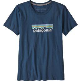 PATAGONIA W'S PASTEL P6 LOGO ORGANIC CREW T-SHIRT STONE BLUE 21