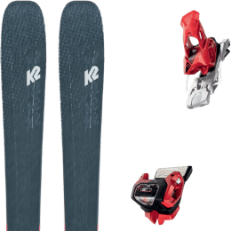 Pack ski alpin K2 K2 MINDBENDER 98 TI ALLIANCE 20 + TYROLIA ATTACK² 13 GW W/O BRAKE [A] RED 20 - Ekosport
