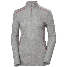 HELLY HANSEN W MERINO MID GRAPHIC 1/2 GREY 20