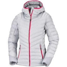 COLUMBIA WINDGATES HOODED JACKET ASTRAL HEATHER,WHITE,RED CAMELLIA 19