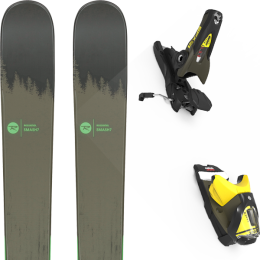 ROSSIGNOL SMASH 7 20 + LOOK SPX 12 GW B100 KAKI/YELLOW 20