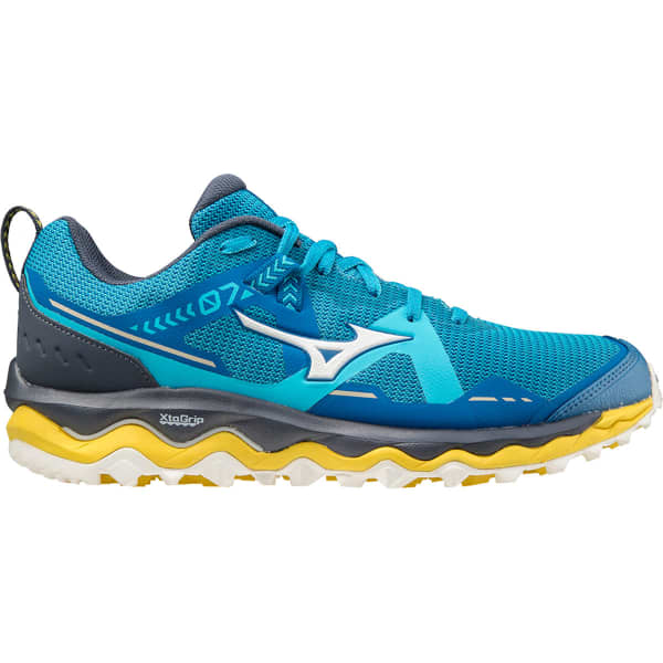 MIZUNO Chaussure trail Wave Mujin 7 Mykonos Blue/snow White/scuba Blue Homme Bleu taille 7