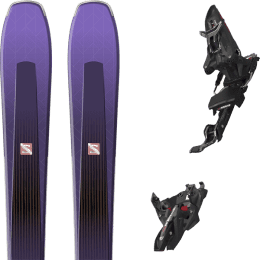 Pack ski alpin SALOMON SALOMON AIRA 84 TI PURPLE/BLACK 20 + MARKER KINGPIN MWERKS 12 75-100MM BLK/RED 22 - Ekosport