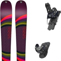 Pack ski alpin K2 K2 MISSCONDUCT + SALOMON WARDEN MNC 13 N DRESS BLUE - Ekosport