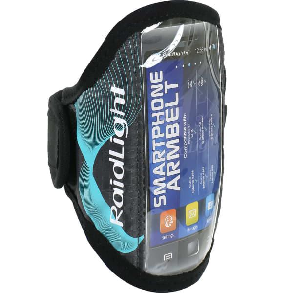 RAIDLIGHT Brassard running Smartphone Armbelt Black/turquoise Noir/Bleu Unique