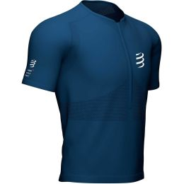 COMPRESSPORT TRAIL HALF-ZIP FITTED SS TOP BLUE 21