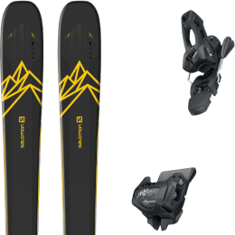 BU SKI SALOMON SALOMON QST 92 DARK BLUE/YELLOW 20 + TYROLIA ATTACK² 11 GW W/O BRAKE [L] SOLID BLACK 20 - Ekosport
