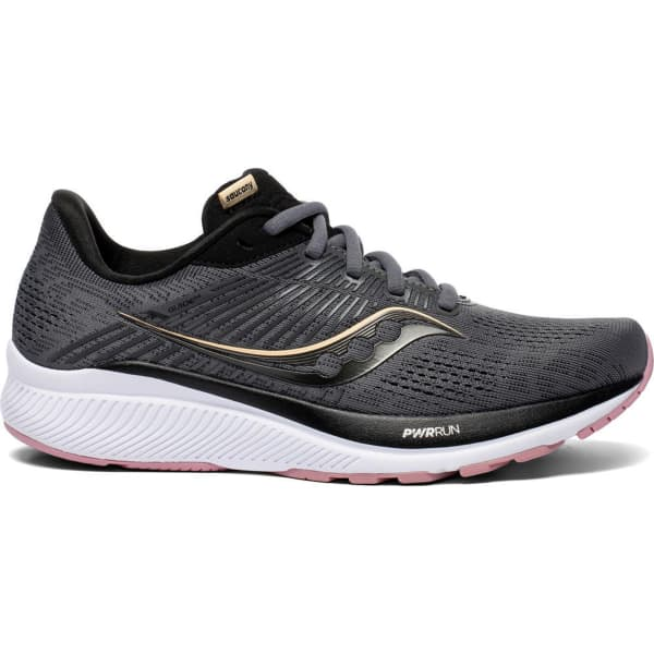 SAUCONY Chaussure running Guide 14 W Charcoal/rose Femme Gris taille 5.5