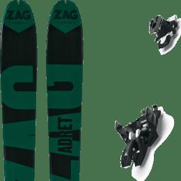 Ski randonnée ZAG ZAG ADRET 81 20 + MARKER ALPINIST 10 LONG TRAVEL BLACK-TITANIUM 22 - Ekosport