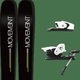 Pack ski alpin MOVEMENT MOVEMENT GO 109 19 + SALOMON Z12 B90 WHITE/BLACK 21 - Ekosport