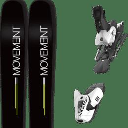 Landing housse ski offerte 2018 MOVEMENT MOVEMENT GO 109 19 + SALOMON Z12 B100 WHITE/BLACK 21 - Ekosport