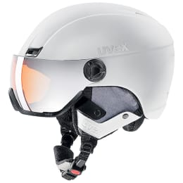 BU SKI UVEX UVEX HLMT 400 VISOR STYLE WHITE MAT 21 - Ekosport