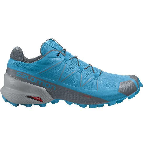 SALOMON Chaussure trail Speedcross 5 Hawaiian Ocean/stormy Weather/quarry Homme Bleu taille 6.5