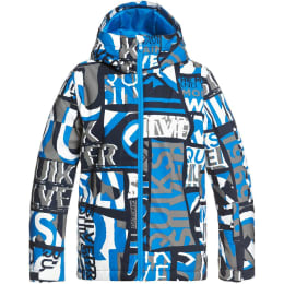 QUIKSILVER MISSION PRINTED YOUTH JK BRILLIANT BLUE ISERE POINT 21