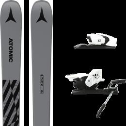 ATOMIC PUNX FIVE GREY 21 + SALOMON Z12 B90 WHITE/BLACK 21