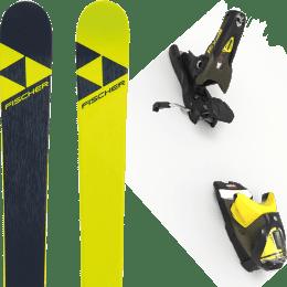 Pack ski alpin FISCHER FISCHER NIGHTSTICK 21 + LOOK SPX 12 GW B100 KAKI/YELLOW 20 - Ekosport