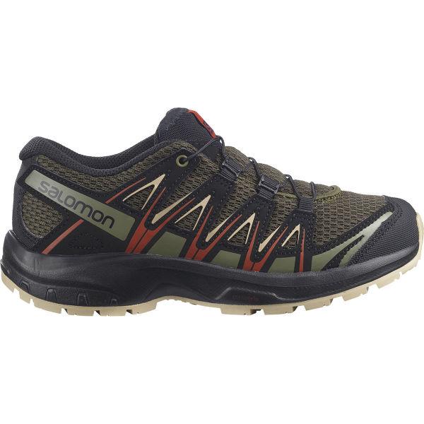 SALOMON Chaussure trail Xa Pro 3d J Olive Night/safari/rooibos Tea Enfant Noir/Vert taille 33
