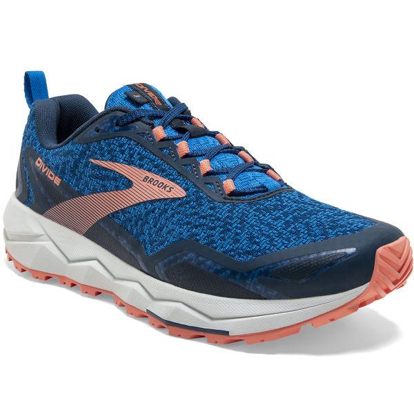 BROOKS Chaussure trail Divide W Blue/desert Flower/grey Femme Bleu taille 5.5