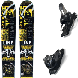 LINE HONEY BADGER 21 + MARKER 11.0 TCX BLACK/ANTHRACITE 20