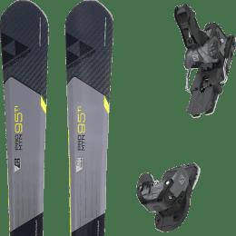 Pack ski alpin FISCHER FISCHER PRO MTN 95 TI 17 + SALOMON WARDEN MNC 13 N BLACK/GREY 20 - Ekosport