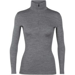 ICEBREAKER WMNS 260 TECH LS HALF ZIP GRITSTONE HEATHER 20