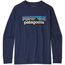 PATAGONIA BOYS' L/S GRAPHIC ORGANIC T-SHIRT CLASSIC NAVY 21