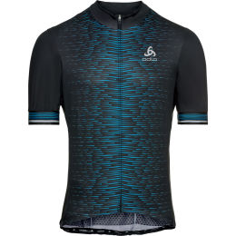 ODLO MAILLOT MC ZIP INTEGRAL ZEROWEIGHT BLACK GRAPHIC 21