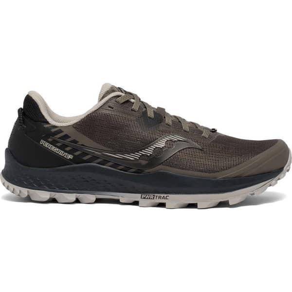SAUCONY Chaussure trail Peregrine 11 Gravel/black Homme Gris/Noir taille 8.5