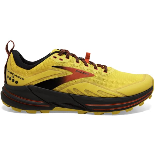 BROOKS Chaussure trail Cascadia 16 Yellow/black/grenadine Homme Jaune taille 7