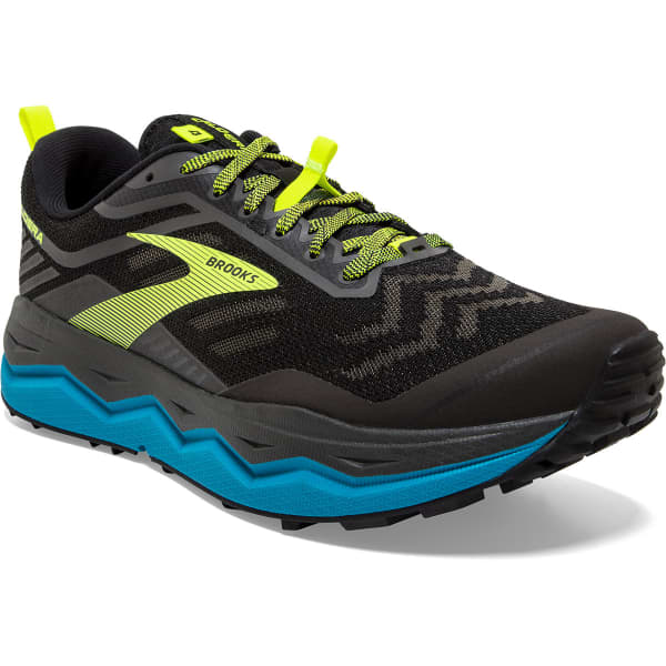 BROOKS Chaussure trail Caldera 4 D Black/blue/nightlife Homme Bleu/Noir/Jaune taille 7.5