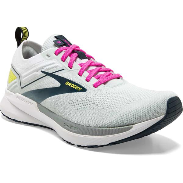 BROOKS Chaussure running Ricochet 3 W Ice Flow/pink/pond Femme Vert/Blanc taille 5.5