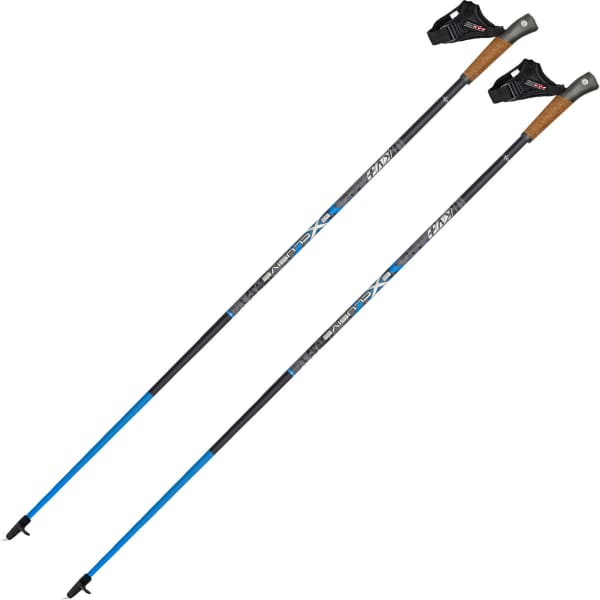 KV+ Bâton de marche nordique Exclusive Clip Black Noir/Bleu 100