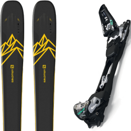 Pack ski alpin SALOMON SALOMON QST 92 DARK BLUE/YELLOW 20 + MARKER F10 TOUR BLACK/WHITE 20 - Ekosport