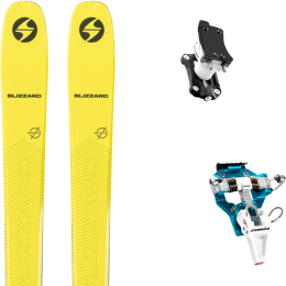 BLIZZARD ZERO G 085 YELLOW 21 + DYNAFIT SPEED TURN 2.0 BLUE/BLACK 21