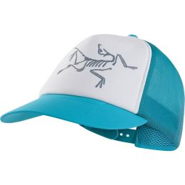 ARC'TERYX BIRD TRUCKER HAT DARK FIROZA/DELOS GREY 19