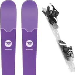 Pack ski+fix ROSSIGNOL ROSSIGNOL SASSY 7 + XPRESS 11 B93 BLACK WHITE 18 - Ekosport