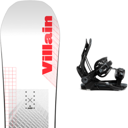 SALOMON THE VILLAIN 21 + FLOW FENIX FUSION  BLACK 21