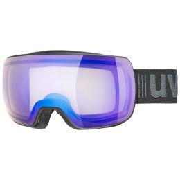 UVEX COMPACT V BLACK MAT/MIR BLUE/VAR CLEAR 21