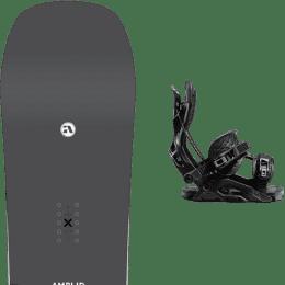 Snowboard AMPLID YES STANDARD B&W NOISE 21 + FLOW FUSE FUSION BLACK 21 - Ekosport