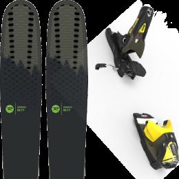 Pack ski alpin ROSSIGNOL ROSSIGNOL SKY 7 HD 20 + LOOK SPX 12 GW B100 KAKI/YELLOW 20 - Ekosport