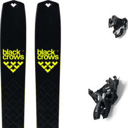 Ski randonnée BLACK CROWS BLACK CROWS SOLIS 22 + MARKER ALPINIST 8 BLACK/TITANIUM 22 - Ekosport