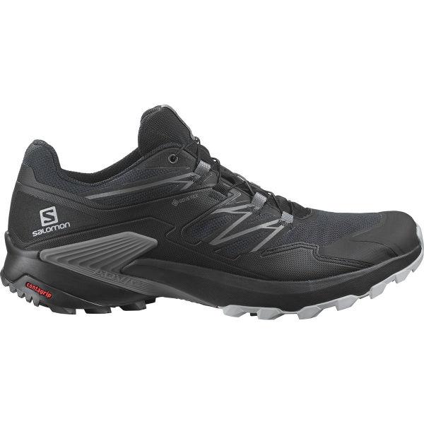 SALOMON Chaussure trail Wings Sky Gore Tex Ebony/black/lemon Zest Homme Noir/Gris taille 6.5
