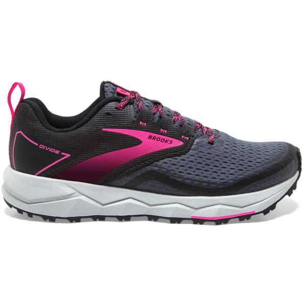 BROOKS Chaussure trail Divide 2 W Black/ebony/pink Femme Gris/Noir/Rose taille 8.5