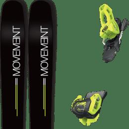 Pack ski alpin MOVEMENT MOVEMENT GO 109 19 + TYROLIA ATTACK² 11 GW BRAKE 100 [L] FLASH YELLOW 20 - Ekosport
